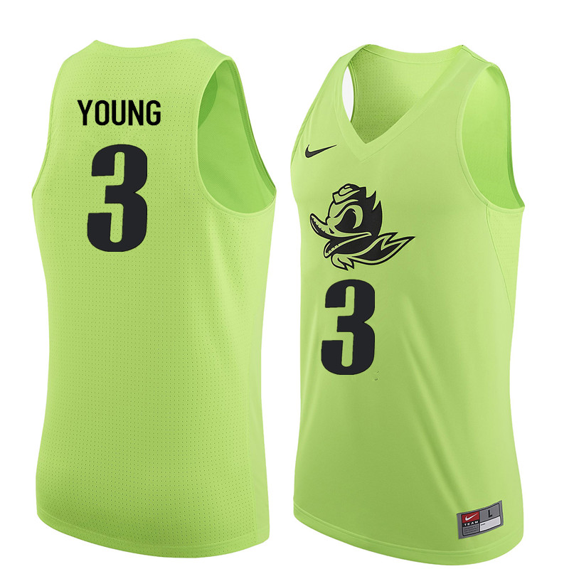 Men Oregon Ducks #3 Joseph Young College Basketball Jerseys Sale-Electric Green